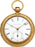 Timepieces:Pocket (pre 1900) , James Hornby Liverpool Lever Fusee, 18k Gold Reversible Pair Case,circa 1850. ...