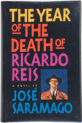 Books:Signed Editions, José Saramago. The Year of the Death of Ricardo Reis.Translated by Giovanni Pontiero. San Diego New York London: Ha...