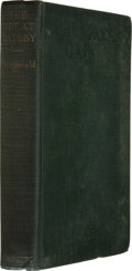 Books:First Editions, F. Scott Fitzgerald. The Great Gatsby. New York: CharlesScribner's Sons, 1925.. First edition, first issue. O...