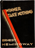 "Books:First Editions, Ernest Hemingway. Winner Take Nothing. New York: CharlesScribner's Sons, 1933.. First edition, with ""A"" and S..."