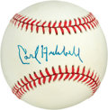 Baseball Collectibles:Balls, Carl Hubbell Single Signed Baseball....