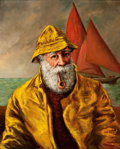Western, FROM THE COLLECTION OF SUSAN & ALLEN COLES. AMERICAN SCHOOL (20th Century). Sea Captain. Oil on canvas. 20 x 16 inches...
