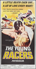 """Movie Posters:Action, The Young Racers (American International, 1963). Three Sheet (41"""" X81""""). Action.. ..."""