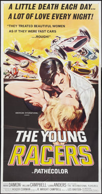 """The Young Racers (American International, 1963). Three Sheet (41"""" X 81""""). Action"""