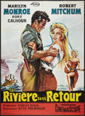 "Movie Posters:Adventure, River of No Return (20th Century Fox, R-1961). French Grande (47"" X63""). Adventure.. ..."