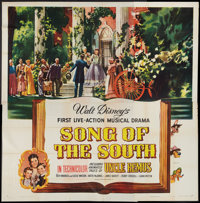 """Song of the South (RKO, 1946). Six Sheet (81"""" X 81""""). Animated"""