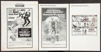 James Bond Pressbook Lot (United Artists, 1969-1971). Pressbooks (2) and Ad Supplement (Multiple Pages, Various Sizes)...