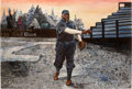 Baseball Collectibles:Others, Rube Foster Original Oil Painting....