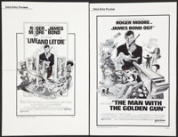 "James Bond Pressbook Lot (United Artists, 1973 & 1974). Pressbooks (2) (Multiple Pages, 11"" X 17""). Ja..."