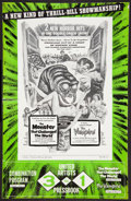 """Movie Posters:Horror, The Monster that Challenged the World/The Vampire Combo (United Artists, 1957). Pressbook (Multiple Pages) (11"""" X 17""""). Horr..."""