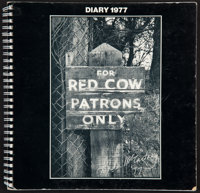 """Paul McCartney (MPL Communications, 1977). Spiral Bound Diary Daybook (60 Pages, 9.5"""" X 9.5""""). Rock and Roll..."""