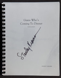 "Guess Who's Coming to Dinner (Columbia, 1967). Autographed Spiral Bound Script (111 Pages, 9"" X 11""). Comedy..."