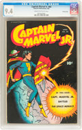 Golden Age (1938-1955):Superhero, Captain Marvel Jr. #60 Crowley Copy pedigree (Fawcett, 1948) CGC NM 9.4 Cream to off-white pages....