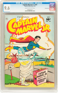 Captain Marvel Jr. #101 Crowley Copy pedigree (Fawcett, 1951) CGC NM+ 9.6 Cream to off-white pages