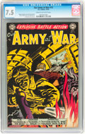 Golden Age (1938-1955):War, Our Army at War #15 (DC, 1953) CGC VF- 7.5 Cream to off-whitepages....