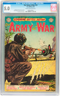 Golden Age (1938-1955):War, Our Army at War #16 (DC, 1953) CGC VG/FN 5.0 Cream to off-whitepages....