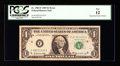 Error Notes:Mismatched Serial Numbers, Fr. 1903-F $1 1969 Federal Reserve Note. PCGS Fine 12.. ...