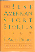Books:Signed Editions, E. Annie Proulx and Katrina Kenison, editors. The Best American Short Stories 1997. With an introduction by E. Annie...