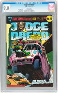 Modern Age (1980-Present):Science Fiction, Judge Dredd #26 (Eagle, 1985) CGC NM/MT 9.8 White pages....