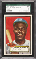 Baseball Cards:Singles (1950-1959), 1952 Topps Jackie Robinson #312 SGC 60 EX 5....