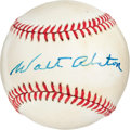 Autographs:Baseballs, 1970's Walt Alston Single Signed Baseball....