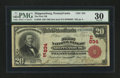 National Bank Notes:Pennsylvania, Shippensburg, PA - $20 1902 Red Seal Fr. 639 The First NB Ch. #(E)834. ...