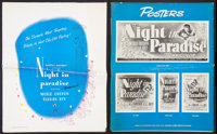 "A Night in Paradise Lot (Universal, 1946). Pressbook (Multiple Pages) (17"" X 21"") and Pressbooks (2) (12""..."