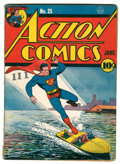 Golden Age (1938-1955):Superhero, Action Comics #25 (DC, 1940) Condition: Qualified VG+....