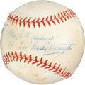 Autographs:Baseballs, 1960's Gabby Hartnett Single Signed Baseball....