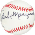 Autographs:Baseballs, 1970's Rube Marquard Single Signed Baseball....