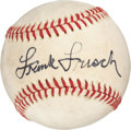 Autographs:Baseballs, Circa 1970 Frank Frisch Single Signed Baseball....