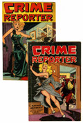 Golden Age (1938-1955):Crime, Crime Reporter #2 and 3 Group (St. John, 1948).... (Total: 2 Comic Books)