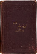 Books:First Editions, Edgar A[llan]. Poe. The Raven. Illustrated. WithBiographical Sketch of the Author. New York: W. Jennings Demorest,...