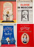 Books:Signed Editions, Kay Thompson. Four Eloise First Editions, including: Eloise.New York: Simon and Schuster, 1955. First printing; rev... (Total:4 Items)