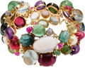 Estate Jewelry:Bracelets, Multi-Stone, Cultured Pearl, Mabe Pearl, Gold Bracelet. ...