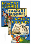 Golden Age (1938-1955):Miscellaneous, Famous Funnies #111-113 Group (Eastern Color, 1943).... (Total: 3 Comic Books)
