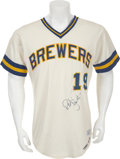 Baseball Collectibles:Uniforms, 1977 Robin Yount Game Worn Milwaukee Brewers Jersey....