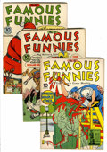 Golden Age (1938-1955):Miscellaneous, Famous Funnies #95-101 Group (Eastern Color, 1942) Condition: Average FN.... (Total: 7 Comic Books)