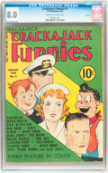 Golden Age (1938-1955):Cartoon Character, Crackajack Funnies #3 File Copy (Dell, 1938) CGC VF 8.0 Cream to off-white pages....