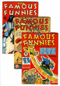 Golden Age (1938-1955):Miscellaneous, Famous Funnies Group (Eastern Color, 1943-44) Condition: Average FN.... (Total: 10 Comic Books)
