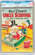 Golden Age (1938-1955):Cartoon Character, Four Color #386 Uncle Scrooge (Dell, 1952) CGC FN 6.0 Whitepages....