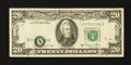 Error Notes:Shifted Third Printing, Fr. 2074-A $20 1981A Federal Reserve Note. Very Fine.. ...