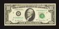 Error Notes:Ink Smears, Fr. 2024-B $10 1977A Federal Reserve Note. Choice AboutUncirculated.. ...