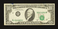 Error Notes:Shifted Third Printing, Fr. 2028-B $10 1988A Federal Reserve Note. Very Fine.. ...