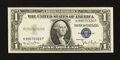 Error Notes:Skewed Reverse Printing, Fr. 1613w $1 1935D Silver Certificate. Crisp Uncirculated.. ...