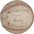 "Autographs:Baseballs, Circa 1930 Charles ""Chief"" Bender Single Signed Baseball...."