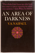 Books:First Editions, V. S. Naipaul. An Area of Darkness. New York: The MacmillanCompany, [1965]. First American edition. Publisher's ori...