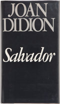 Books:Signed Editions, Joan Didion. Salvador. New York: Simon and Schuster, [1983]. First edition. Signed by the author on the title pa...
