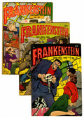 Golden Age (1938-1955):Horror, Frankenstein Comics #25, 27, and 29 Group (Prize, 1953-54)....(Total: 3 Comic Books)