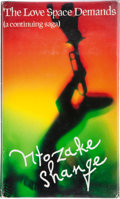 Books:Signed Editions, Ntozake Shange. The Love Space Demands. A Continuing Saga. New York: St. Martin's Press, [1991]. First edition. ...